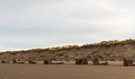 Plage occidentale de Lossiemouth en janvier. Image stock