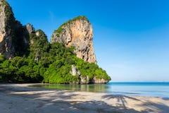 Plage occidentale de Railay située au parc national de plage de Noppharat Thara Image libre de droits