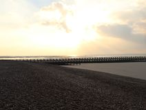 Plage occidentale, Littlehampton Photographie stock