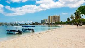 Plage Ocho Rios 1 de la Jamaïque Photographie stock libre de droits