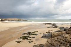 plage orageuse Image stock