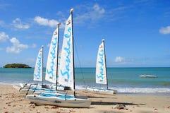 Plage paisible au St Lucia Images libres de droits