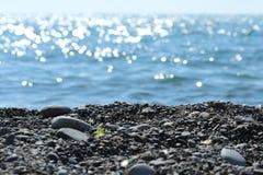 Plage par la mer Photographie stock