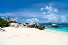 Plage parfaite de photo chez les Caraïbe Image libre de droits