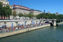 Plage parisienne Photos libres de droits
