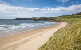 Plage Pembrokeshire Pays de Galles occidental R-U de baie de Whitesands Photo stock