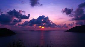 Plage Phuket de coucher du soleil Photos libres de droits