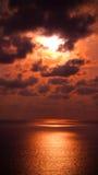 Plage Phuket de coucher du soleil Photographie stock