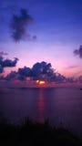Plage Phuket de coucher du soleil Photo stock