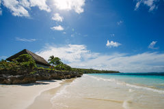 plage pittoresque Photos stock
