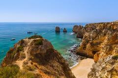 Plage près de Lagos - Algarve Portugal Photos libres de droits