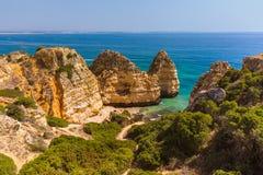 Plage près de Lagos - Algarve Portugal Image libre de droits