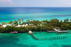 Plage reculée en Bahamas Photos libres de droits