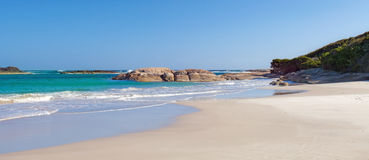 Plage remarquable image stock