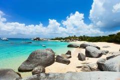 Plage renversante chez les Caraïbe Photographie stock
