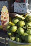 Plage Rio de Janeiro Brazil d'Ipanema de noix de coco Photographie stock