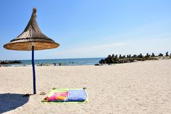 Plage roumaine chez la Mer Noire Image libre de droits