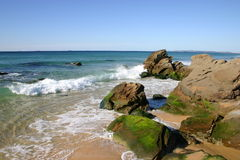 Plage rousse Images stock