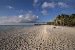 Plage sablonneuse, Cuba Photographie stock libre de droits
