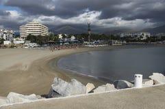 Plage sablonneuse de Marbella Images libres de droits