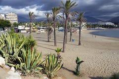 Plage sablonneuse de Marbella Photo stock