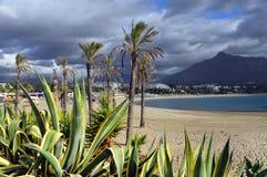 Plage sablonneuse de Marbella Images stock