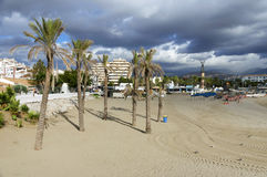 Plage sablonneuse de Marbella Photographie stock