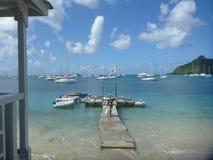 Plage sablonneuse HopeTown, Abacos, Bahamas photos libres de droits