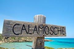 Plage sablonneuse merveilleuse de Sicilia Image libre de droits