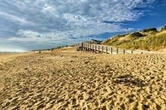 Plage sablonneuse sur Phillip Island, Australie photos libres de droits