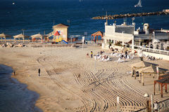 Plage sablonneuse Tel Aviv photo libre de droits