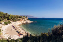 Plage Samos d'Aspres Photographie stock