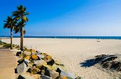 Plage à San Diego Images libres de droits
