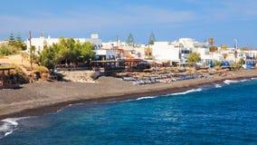 Plage Santorini de Kamari Images stock