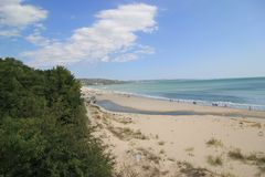 Plage sauvage Images stock