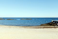 Plage scénique, Long Island Sound Images stock