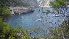 Plage secrète sur l'île Image libre de droits