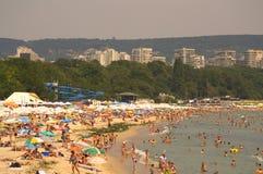 Plage serrée de Varna Photographie stock