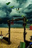plage sombre Halloween images stock
