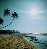 Plage Sri Lanka d'Unawatuna images stock