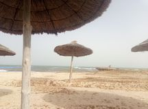 plage sur l'île de Djerba photos libres de droits