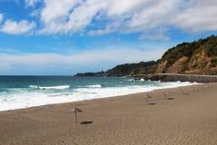 Plage sur l'île de St Miguel, Açores Photos libres de droits