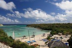 Plage sur l'Antigua Photographie stock