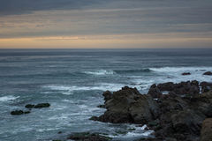 Plage sur l'océan Images libres de droits