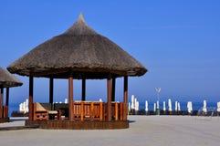 Plage sur la côte de la Mer Noire en Roumanie Photographie stock libre de droits