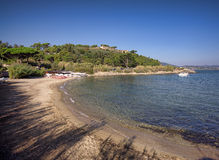 Plage sur la mer Photo stock