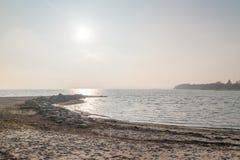 Plage sur la mer baltique dans Sonderborg, Danemark photographie stock