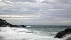 Plage sur la mer ligurienne Image libre de droits