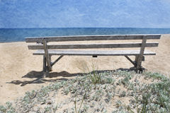 Plage sur le Martha's Vineyard Photos stock