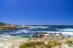 Plage sur 17 milles d'entraînement, Monterey Image libre de droits